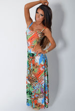 Hawaii Heights Multi Print Swimsuit and Maxi Skirt Set