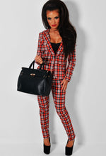 Chase Red Tartan Check Trousers