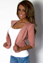 Muse Dusky Pink Tailored 34 Sleeve Blazer Jacket