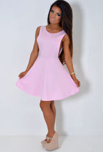 Wish Pastel Pink Backless Skater Dress