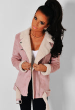 Melissa Pink Suede Effect Fleece Lined Jacket