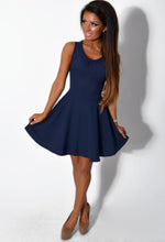 Forget Me Not Navy Sheer Back Skater Dress