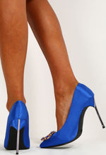 City Blue Crystal Embellished Heels