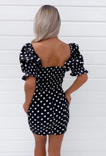 Puff Sleeve Polka Dot Dress