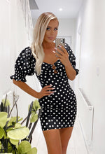 Black Spotted Mini Dress