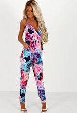 Endless Summer Navy Multi Floral Wrap Jumpsuit