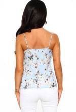 Eye of The Beholder Blue Floral Cami Top