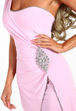 Eyes On The Prize Pink Crystal Embellished Maxi Dress