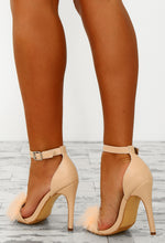 Stolen Kisses Nude Feather Barely There Heels