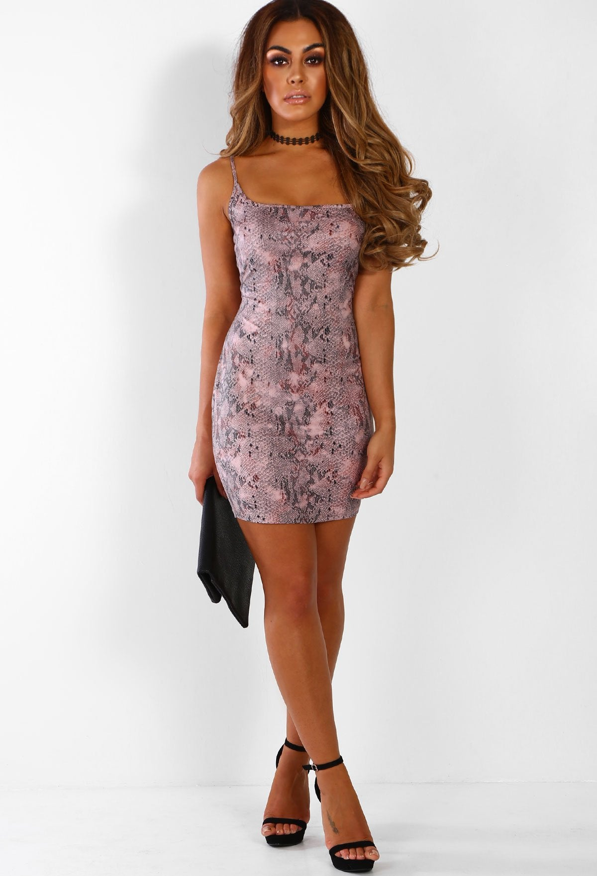 e1497c77261 Fierce and Flawless Pink Snake Print Bodycon Mini Dress – Pink ...