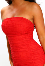 Bandeau Red Dress - Detail View
