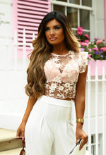 Floral Kiss Pink Floral Mesh Crop Top