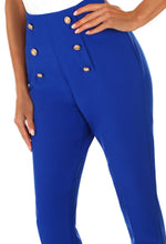 Forever Hustling Cobalt Blue Button Detail Trousers