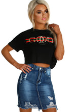 Good Vibes Only Black Cropped Slogan T-Shirt