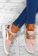 Gotta Run Pink Lurex Metallic Trainers