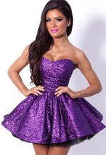 Happily Ever After DELUXE Purple Sequin Dress