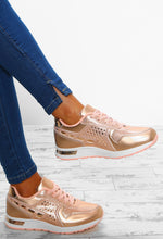 Heart And Sole Rose Gold Metallic Trainers