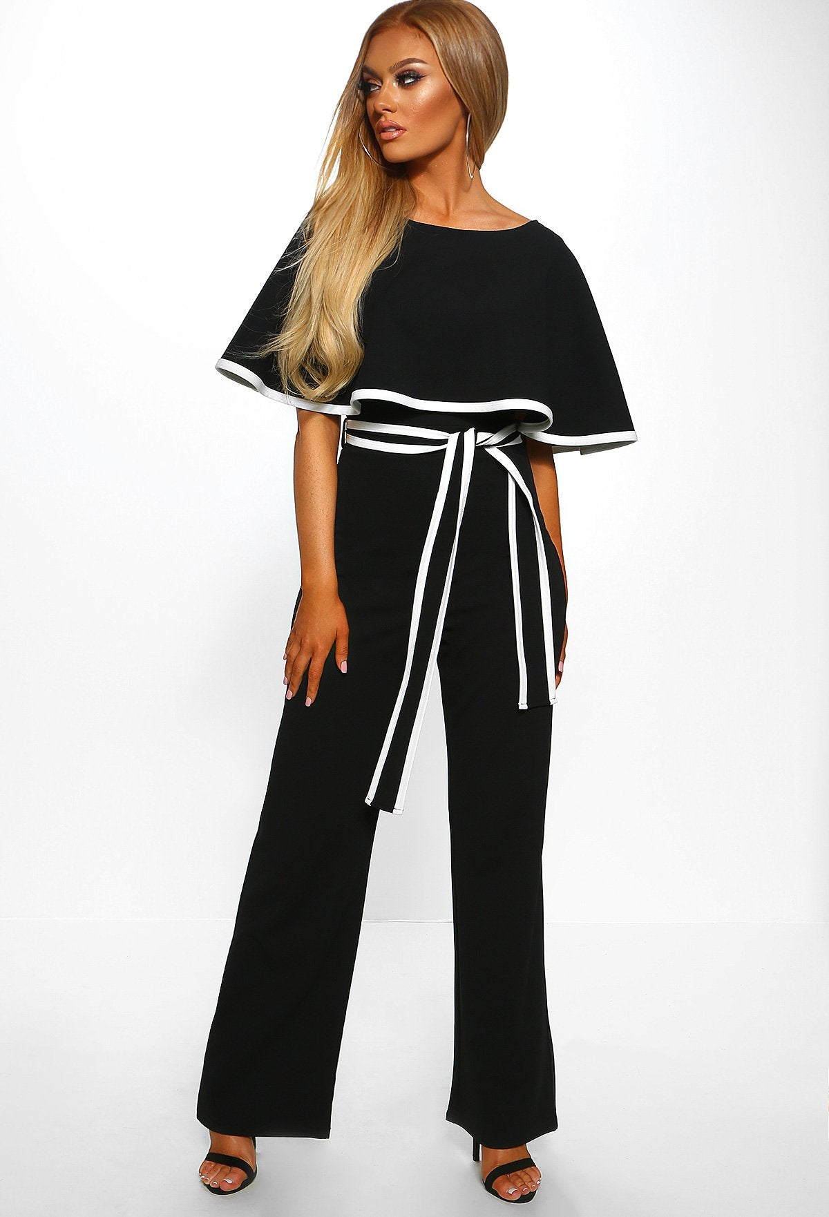 0335b5975699 Hold Your Own Black Double Layer Wide Leg Jumpsuit – Pink Boutique UK