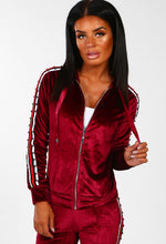 Hollaback Girl Burgundy Velour Stud Detail Jacket