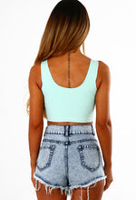 Vintage Crop Mint Green Paradice Crop Top