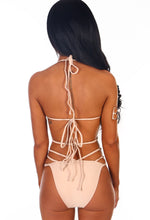 Hollywood Honey Nude Plaited Multi Strap Bikini