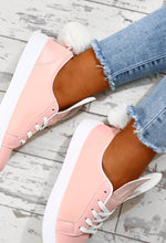 Hop To It Pink Faux Fur Bunny Trainers