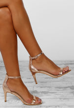 Ilaria Rose Gold Barely There Kitten Heels