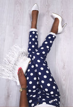 Lovable Navy and White Polka Dot Jeans