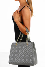Islington Grey Quilted 2 In 1 Handbag and Clutch