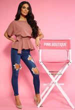 Pink Batwing Top