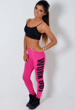 Work Out Pink and Black Gym Leggings