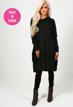Juliana Black Slouch Jumper Dress