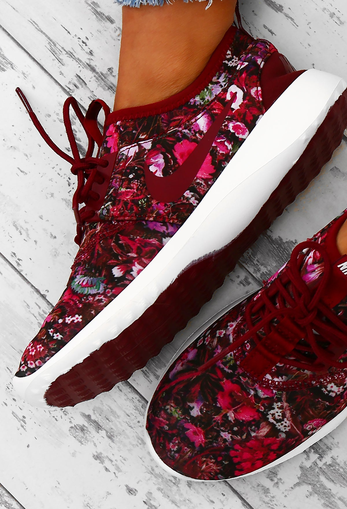 7ba8e073d5337 Nike Juvenate SE Team Burgundy Floral Trainers – Pink Boutique UK