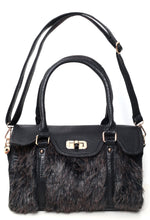 Kamali Black Animal Print Leatherette Handbag