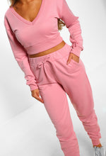 Keep It Sassy Pink Cropped Lounge Set