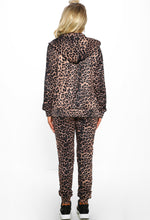 Keeping It Real Multi Leopard Print Glitter Stripe Tracksuit