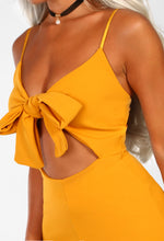 Knots For You Mustard Knot Front Jumpsuit