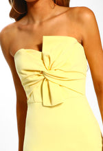 Yellow Strapless Dress - Detail