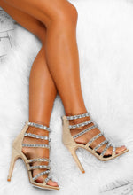 Nude Jewel Strap Stiletto Heels