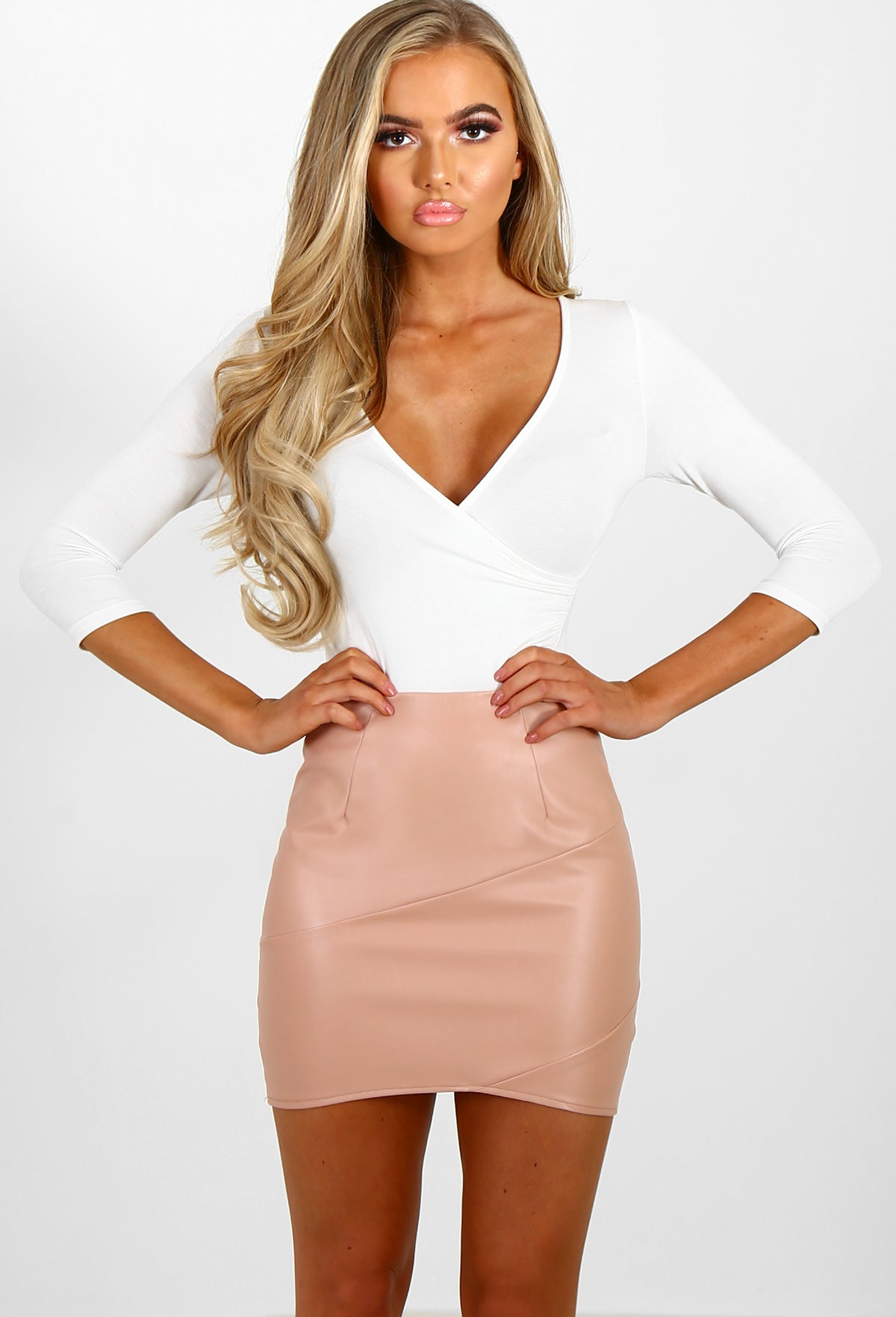 League Of Your Own Pink Faux Leather Mini Skirt – Pink Boutique UK 28809c5d1