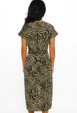 Zebra Print Tie Waist Dress