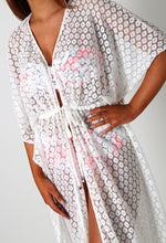 Renea White Lace Maxi Cover Up