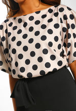 Looking Fine Stone Polka Dot Belted Wide Leg Jumpsuit