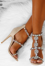 Lose My Breath Nude Faux Suede Embellished Heels