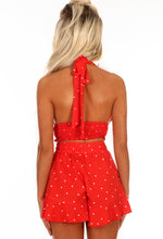 Dream Doll Red Polka Dot High Waisted Shorts