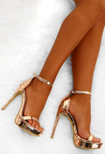 Maneater Rose Gold Barely There Platform Heels