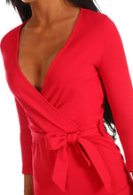 Meant To Be Red Frill Wrap Skort Playsuit