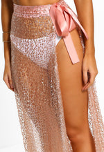 Mermazing Rose Gold Sequin Maxi Skirt Cover Up