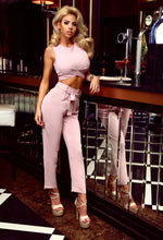 Adrina Pink Tie Waist Trousers