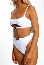 White High Waist Bikini - Detail View